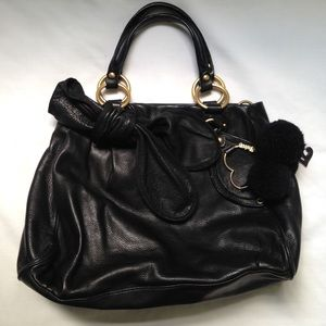 Juicy Couture bow leather handbag